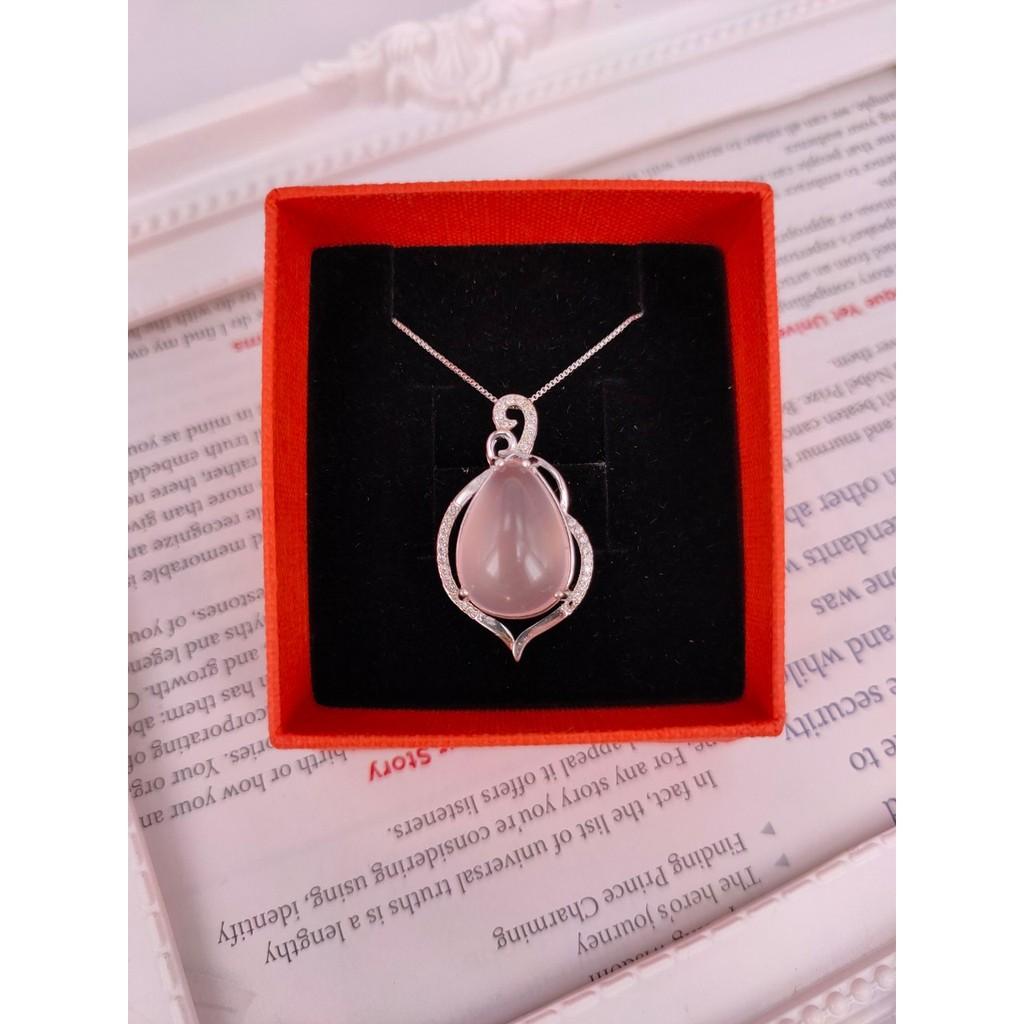 天然水晶墜:天然大粉晶925純銀墜~送鋼鍊~品質您放心