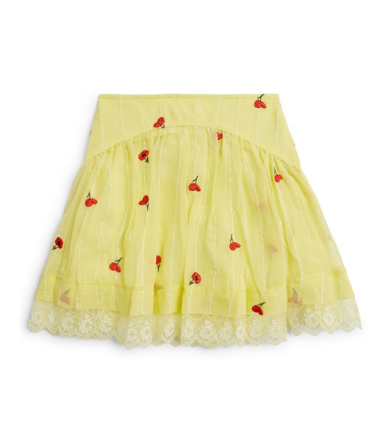 Chloé Kids Floral Embroidered Skirt (2-14 Years)