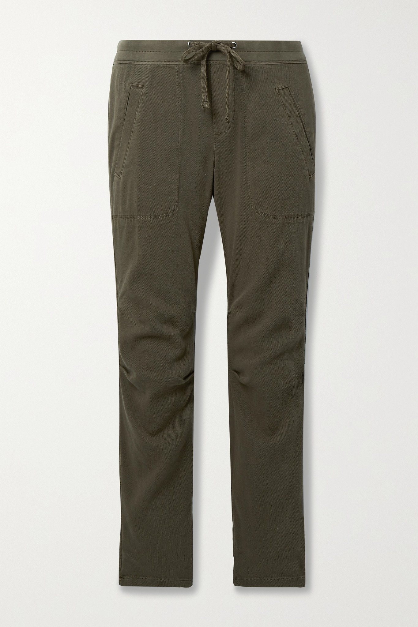 JAMES PERSE - 棉质混纺斜纹布休闲裤 - 绿色 - 4