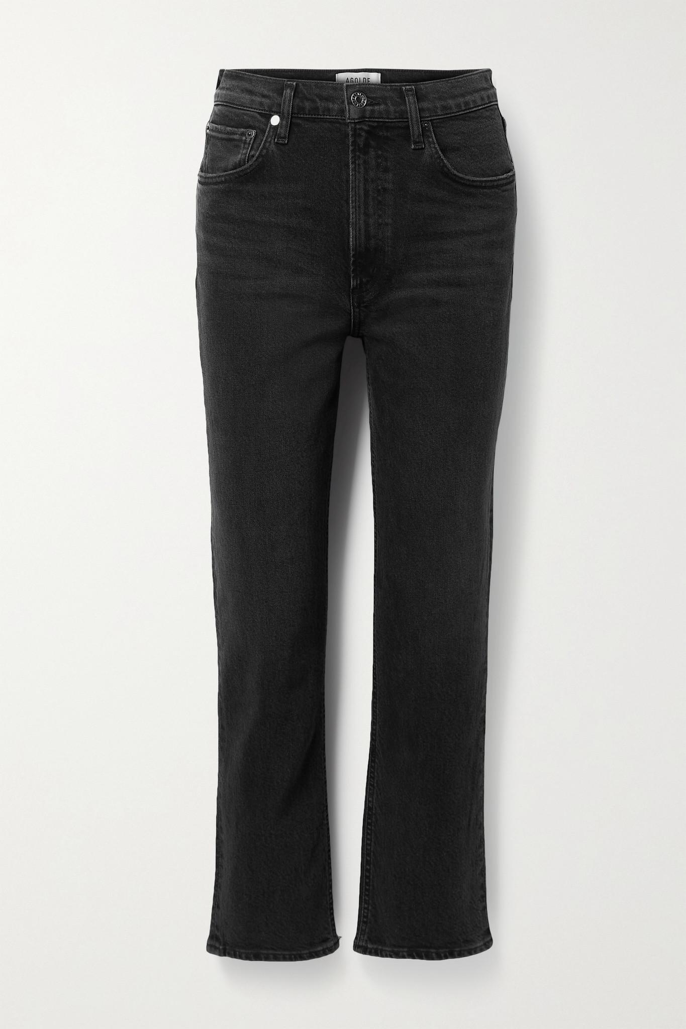 AGOLDE - Wilder 高腰直筒牛仔裤 - 黑色 - 28