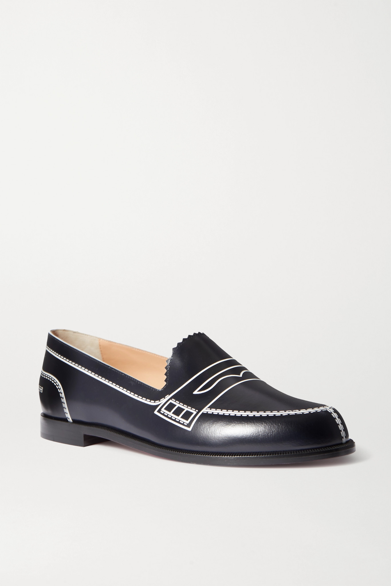 CHRISTIAN LOUBOUTIN - Mocalaureat Printed Leather Loafers - Blue - IT37