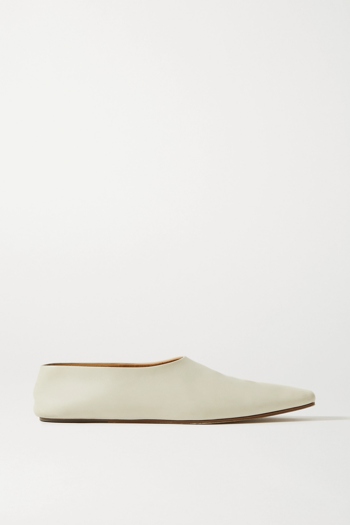 THE ROW - Leather Ballet Flats - Ivory - IT36.5