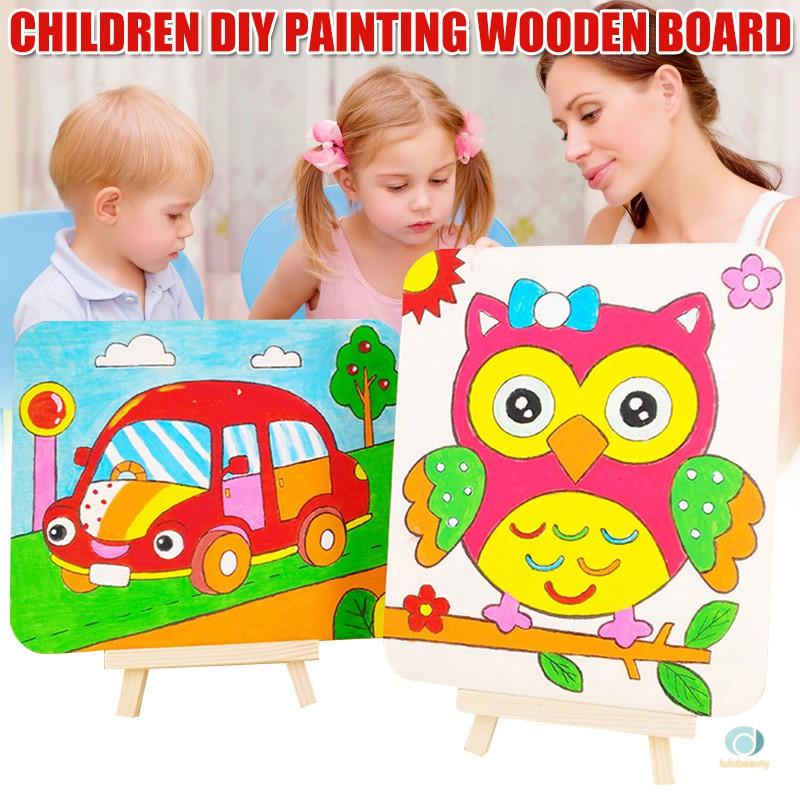 Diy 木板未完成的兒童著色玩具