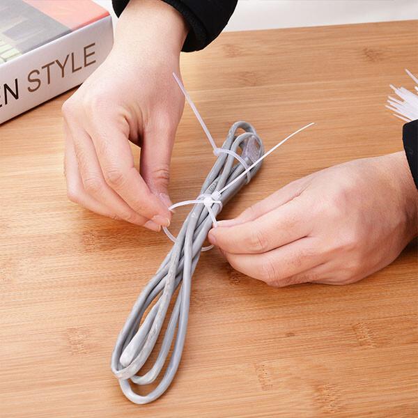 居家寶盒0cm尼龍束線帶 紮線帶 電線紮線帶 綁線束線理線器 固線器 自鎖式收線帶 工業家用束