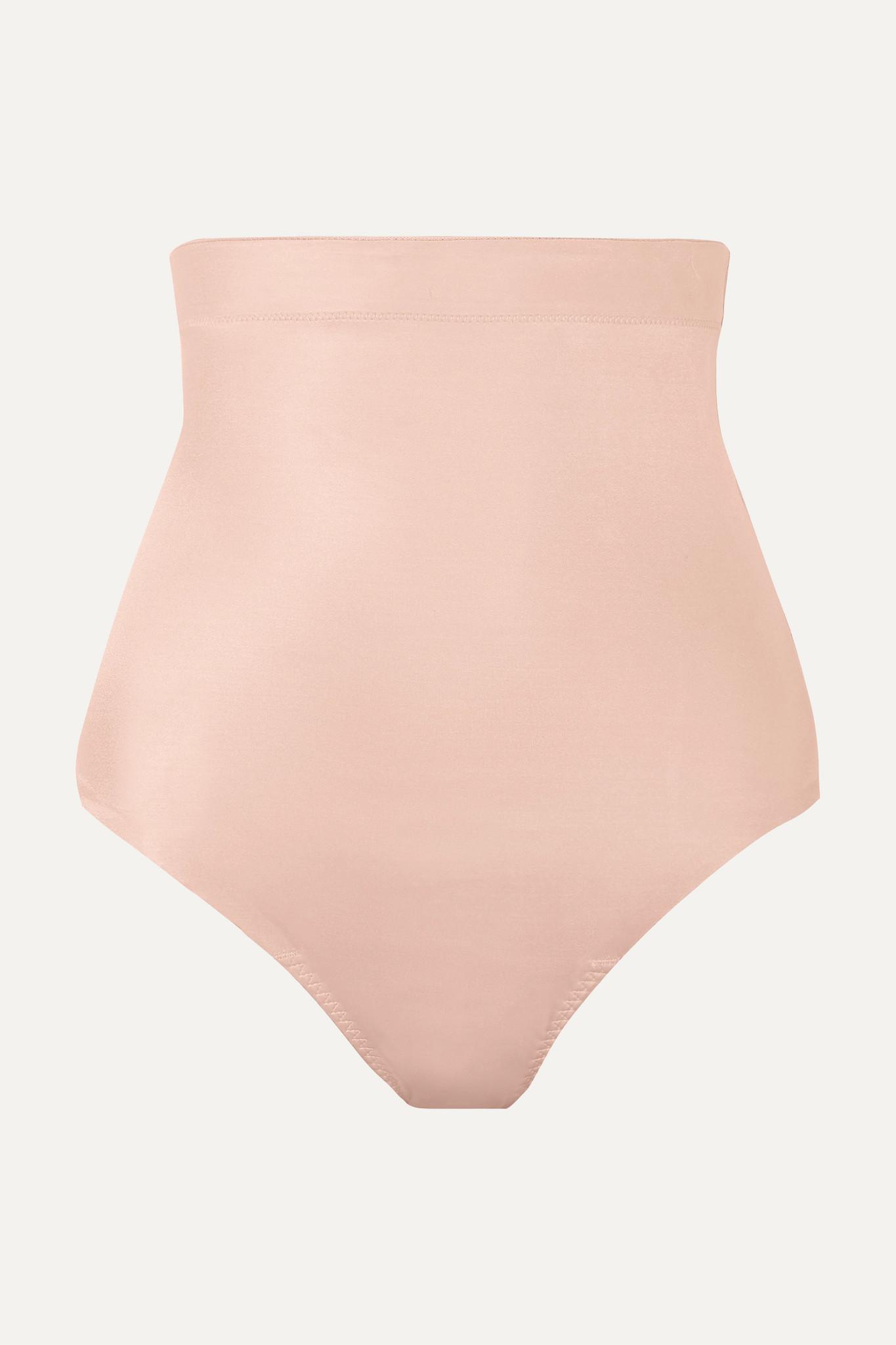 SPANX - Suit Your Fancy 高腰弹力平纹布丁字裤 - 中性色 - x large