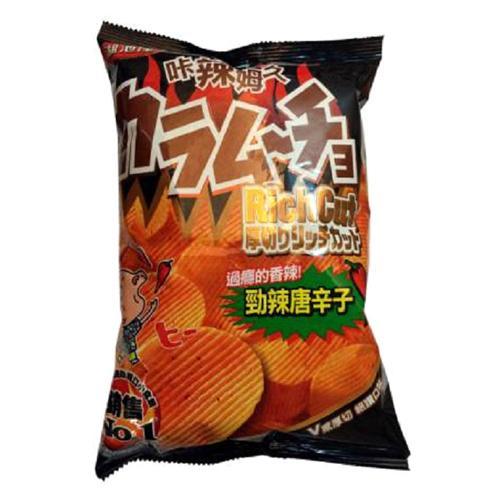 卡辣姆久厚切洋芋片 勁辣唐辛子口味75g【愛買】