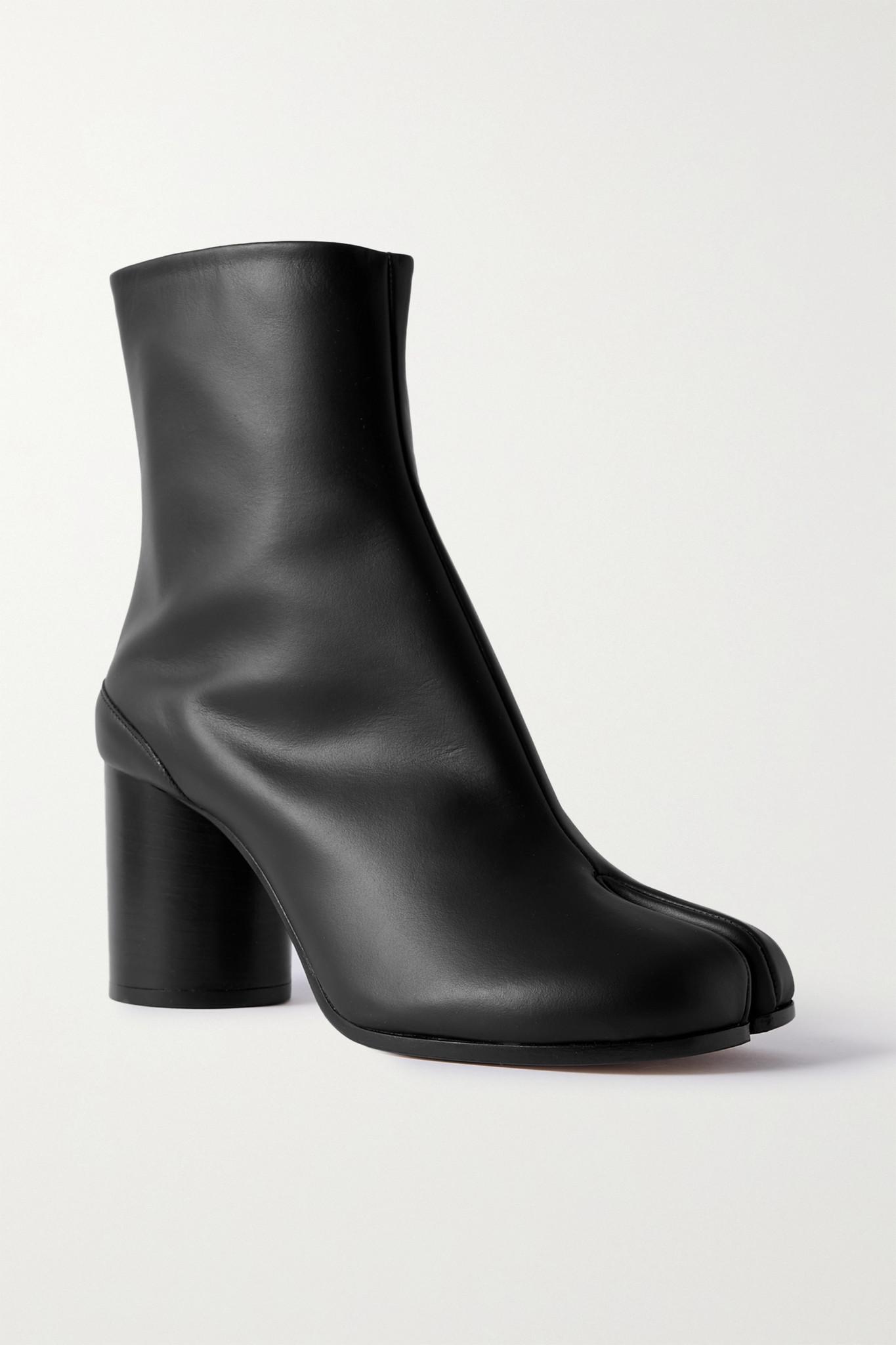 MAISON MARGIELA - Tabi 分趾皮革踝靴 - 黑色 - IT35.5