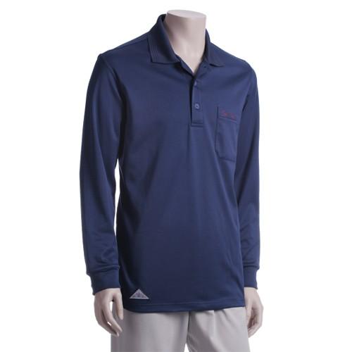 【A'SPORT】DRY-WET-TEX 多且1401L 男款 POLO領長袖排汗衫 深藍