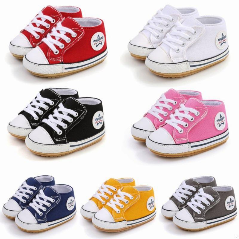 寶寶可愛時尚帆布鞋 軟底防滑嬰兒學步鞋 嬰幼兒百搭休閒經典布鞋【IU貝嬰屋】
