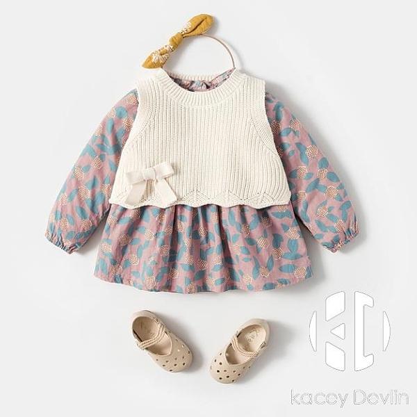 女寶寶洋氣連衣裙套裝春裝嬰兒公主裙女童小裙子春秋裝【Kacey Devlin】