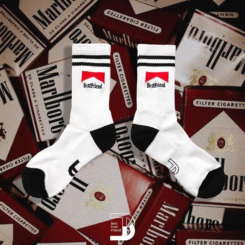 BEST FOOT FRIEND - BF200027-02 萬寶路 BFF 中筒襪 / 小腿襪 (白色)