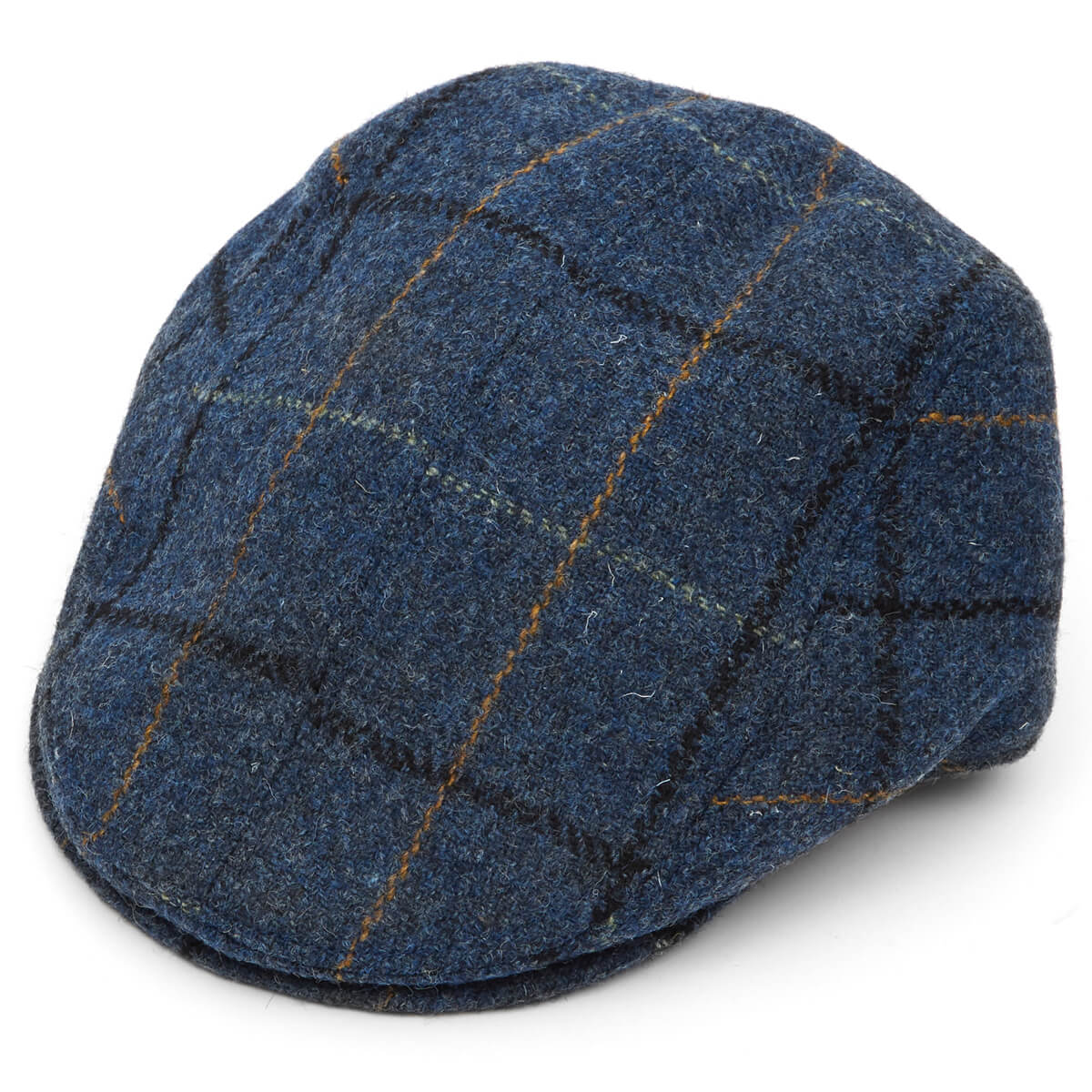 Harris Tweed Tailored Driver Flat Cap-L008-L