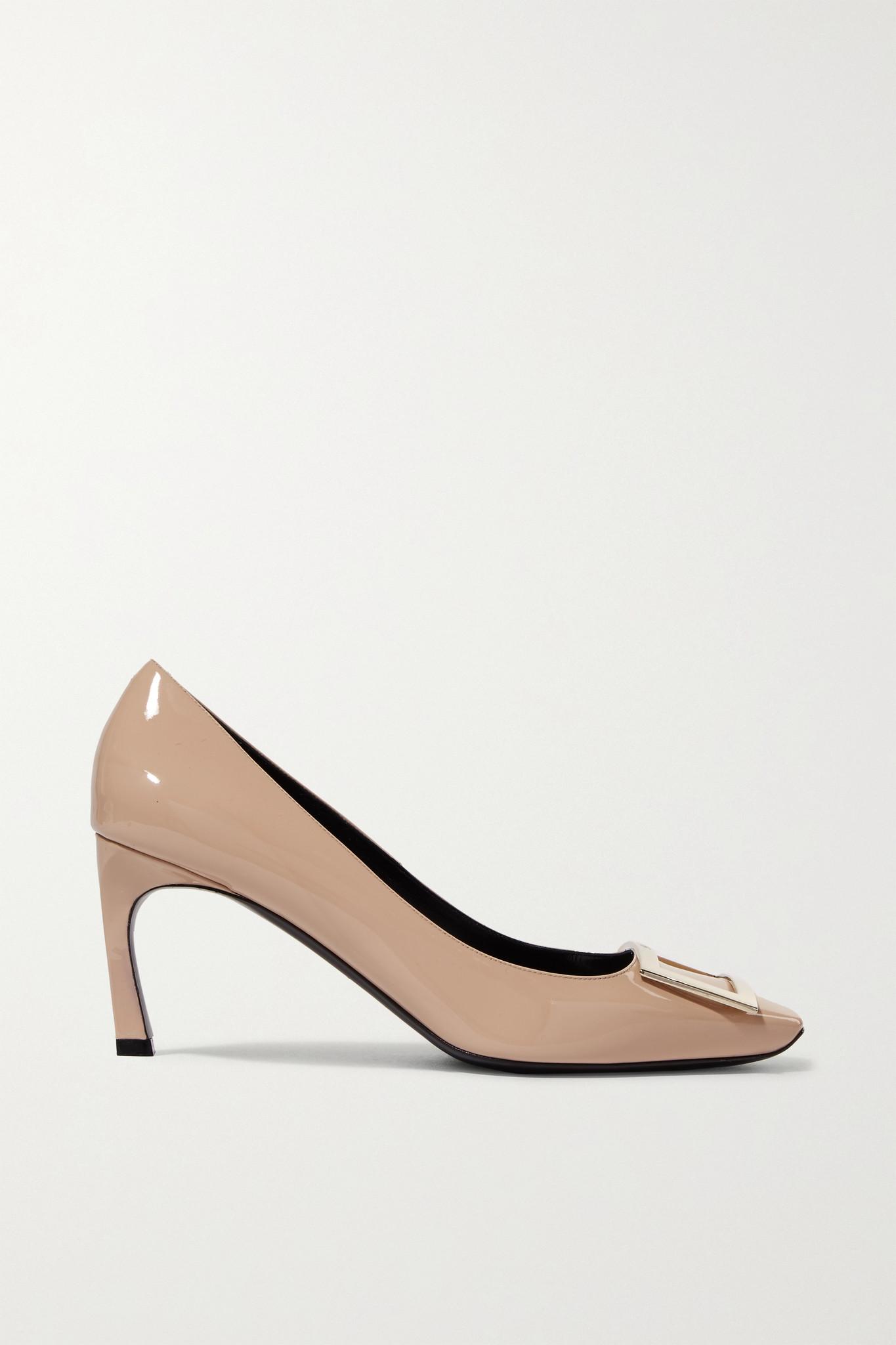 ROGER VIVIER - Belle Vivier Trompette 漆皮高跟鞋 - 中性色 - IT41