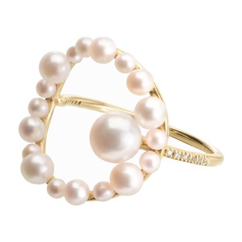 Aphrodite gold diamond ring