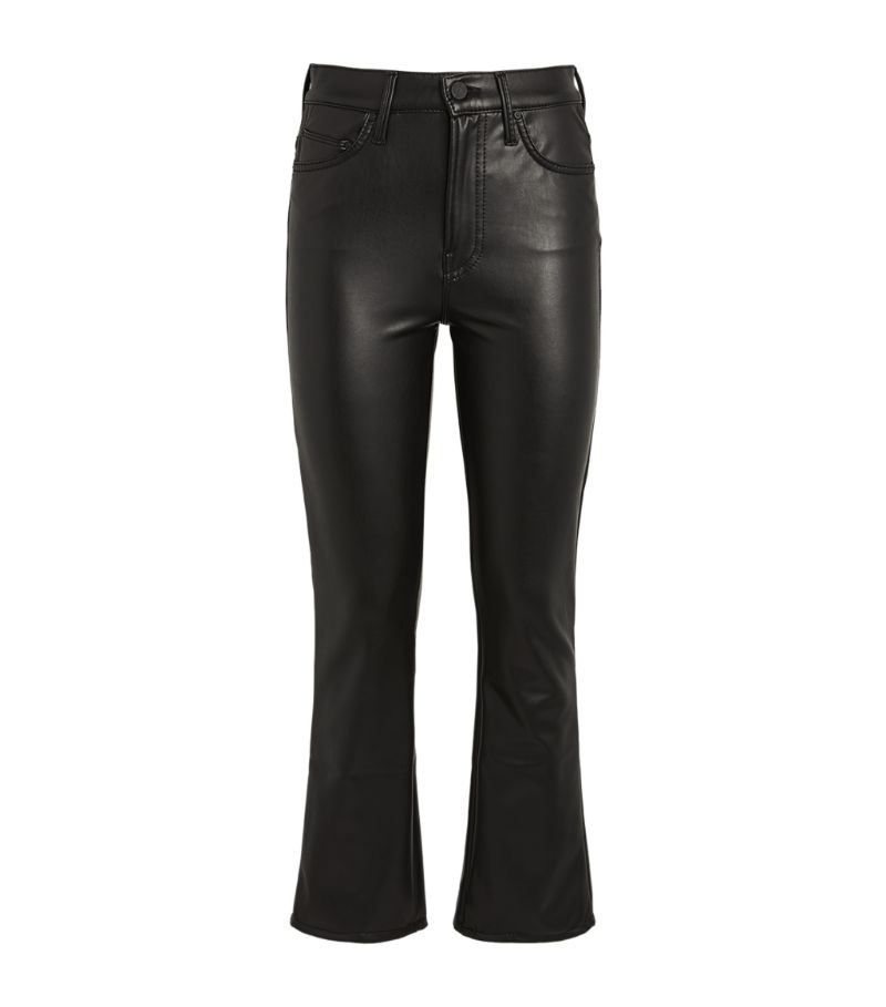 Mother The Insider Cropped Faux Leather Jeans