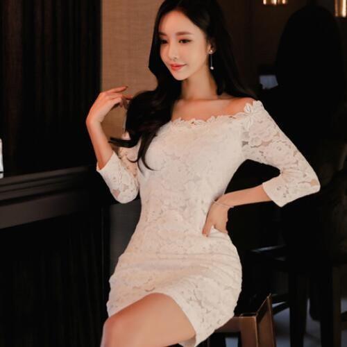 現貨 S碼 蕾絲洋裝連身裙禮服 25587