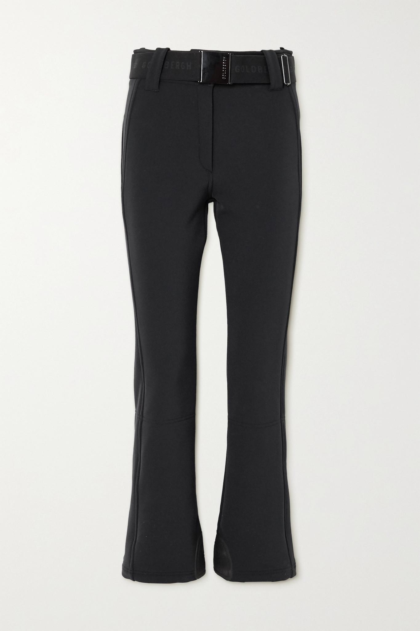 GOLDBERGH - Pippa Belted Flared Ski Pants - Black - UK14