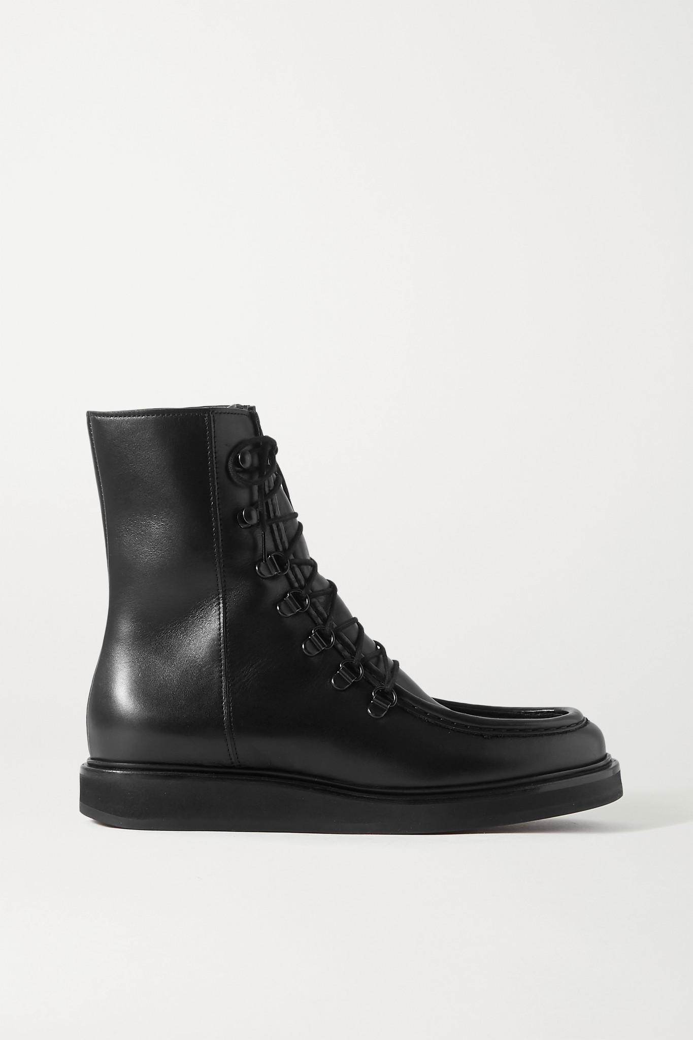 LEGRES - 16 皮革踝靴 - 黑色 - IT41