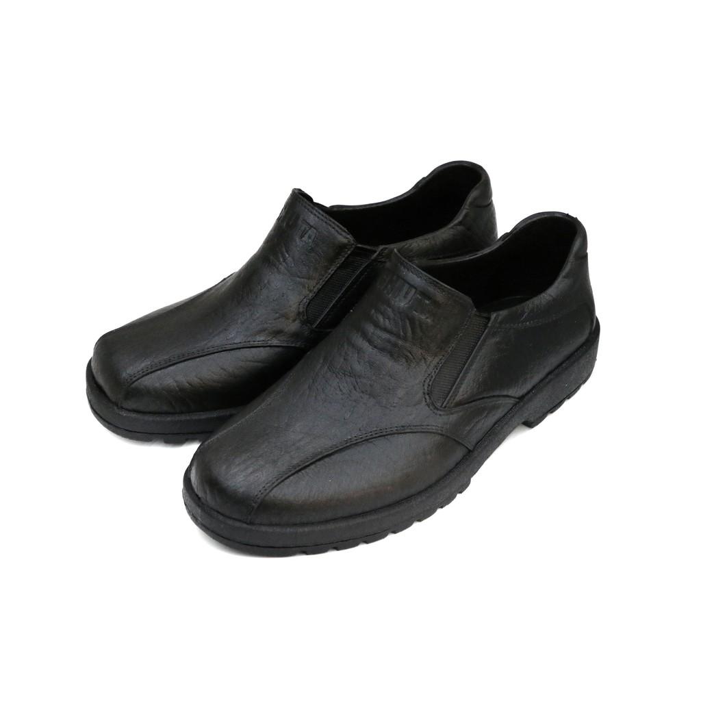 SK 鞋子大王 久大牌 台灣製造 防水休閒鞋 耐油 止滑 工作塑膠鞋 皮鞋紋路樣式(黑)