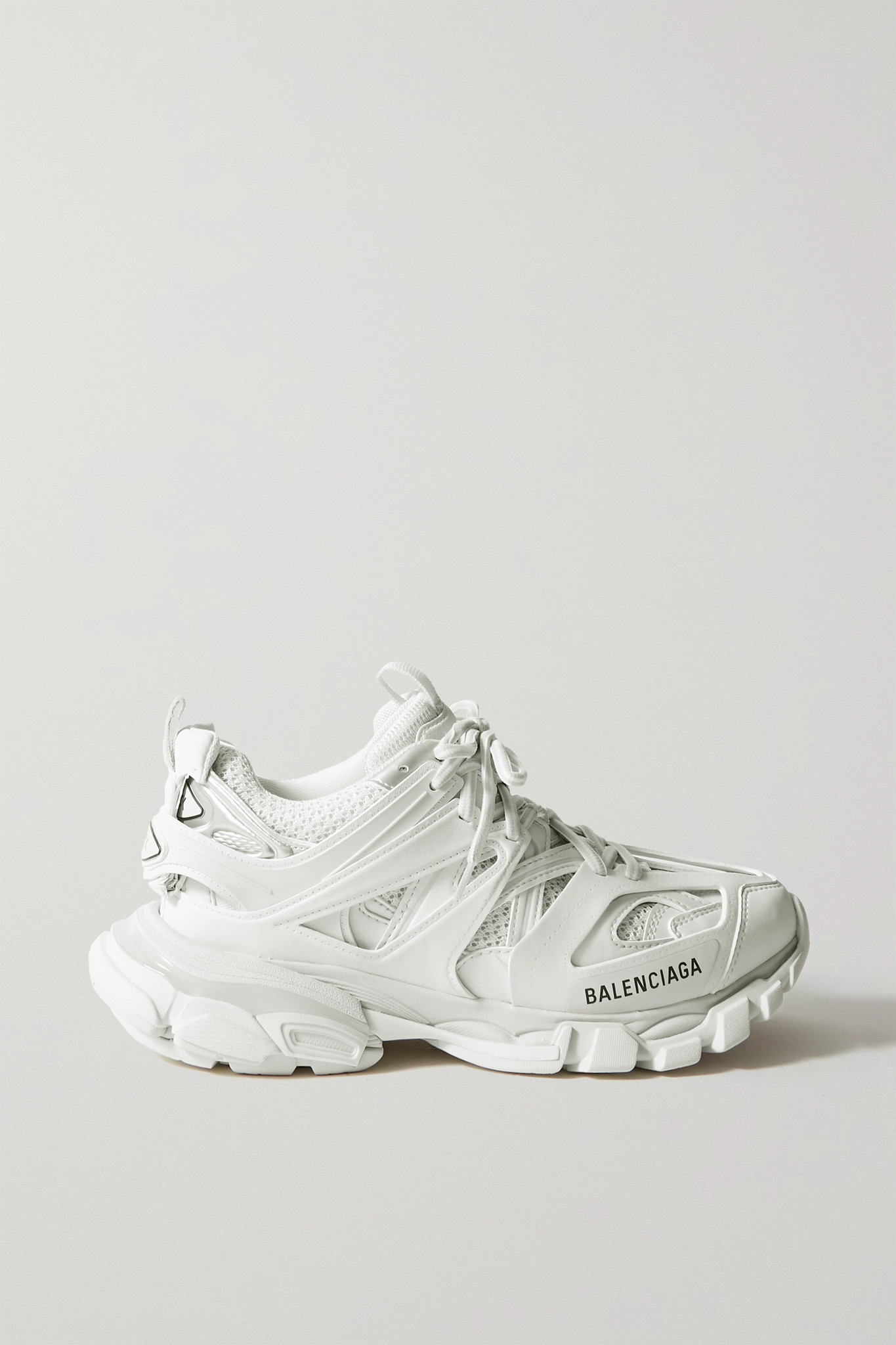 BALENCIAGA - Track 品牌标志细节网眼橡胶运动鞋 - 白色 - IT41