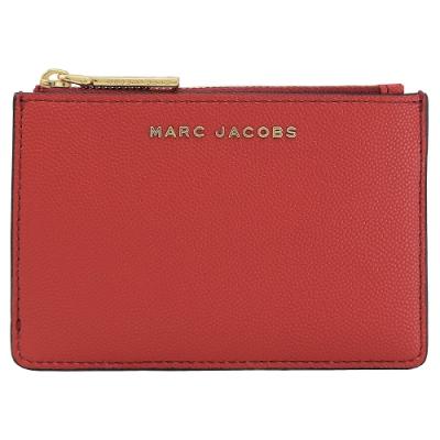 MARC JACOBS 金屬LOGO4卡鑰匙吊環零錢包(紅)