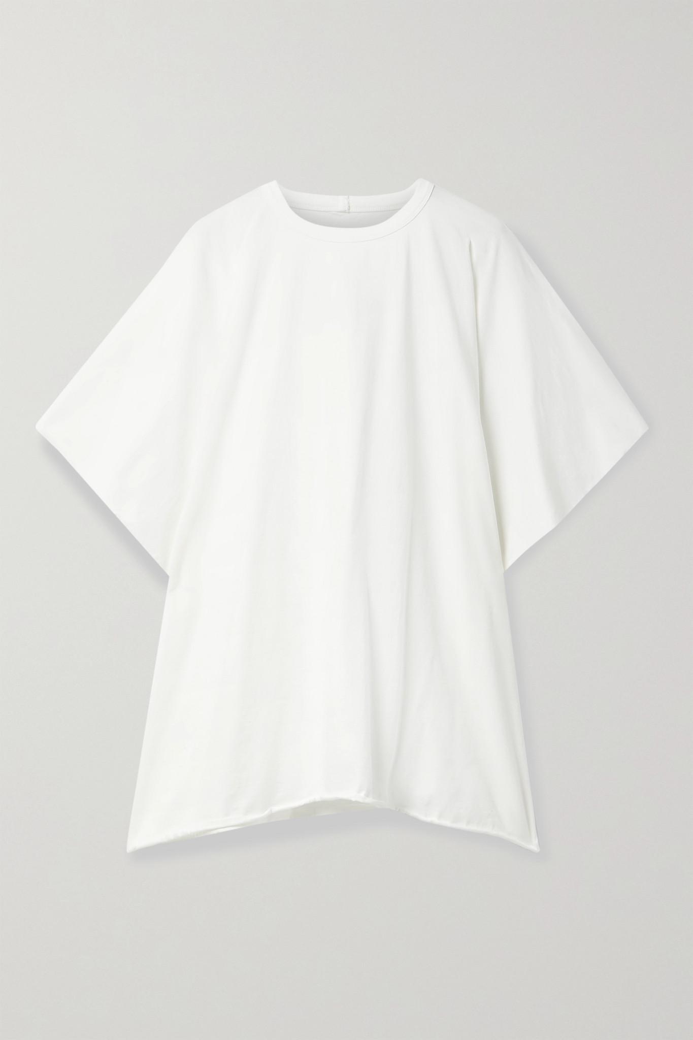 RICK OWENS - Minerva 纯棉平纹布 T 恤 - 白色 - IT46