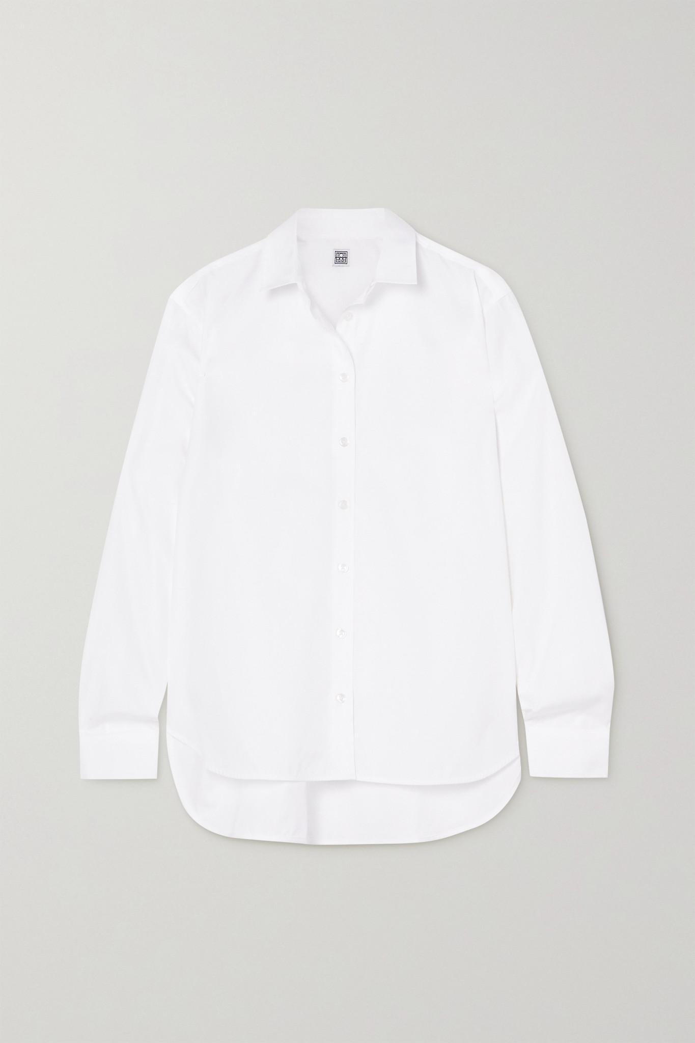 TOTÊME - Signature 纯棉府绸衬衫 - 白色 - FR40