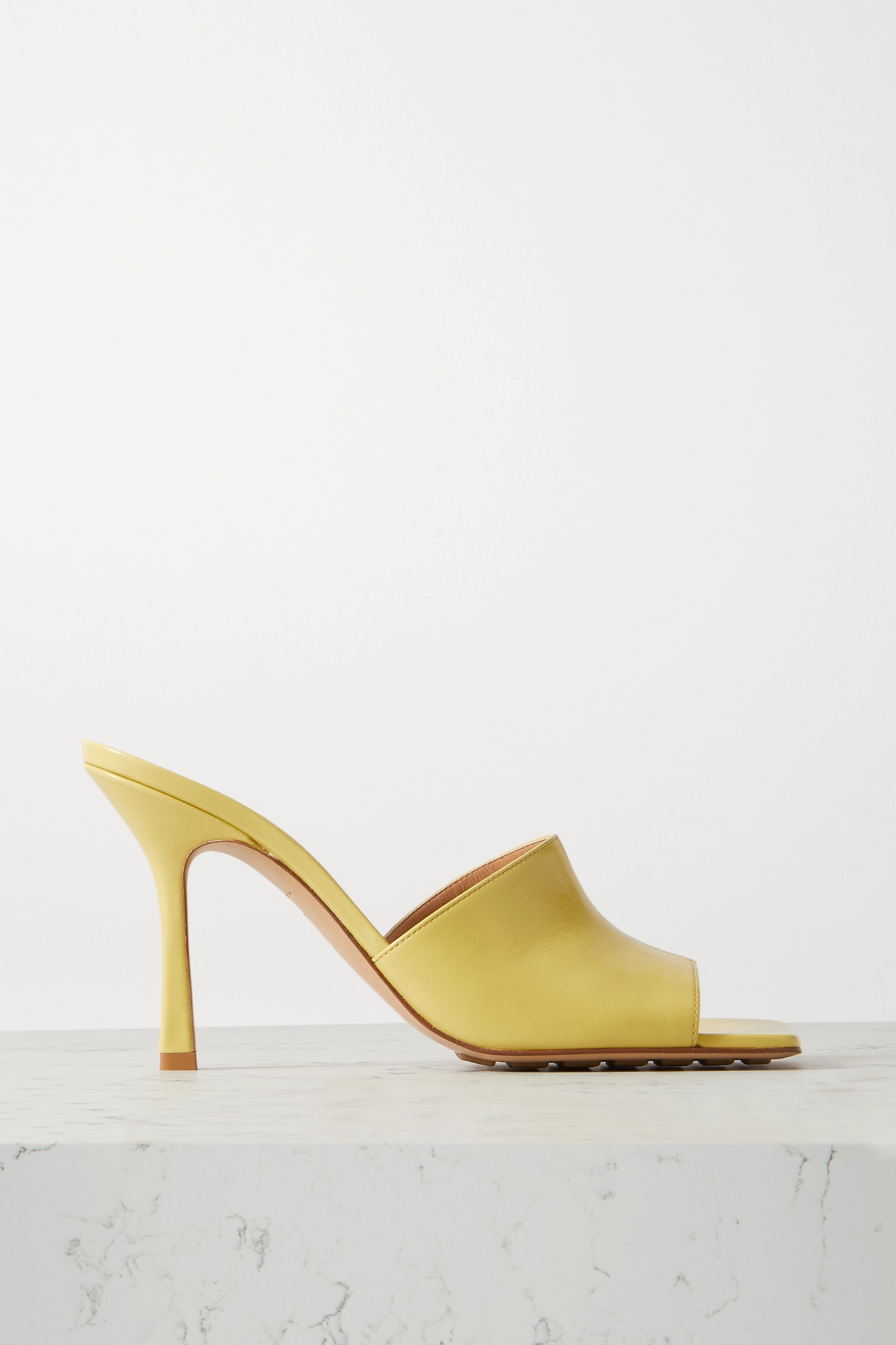 BOTTEGA VENETA - Leather Mules - Yellow - IT36.5