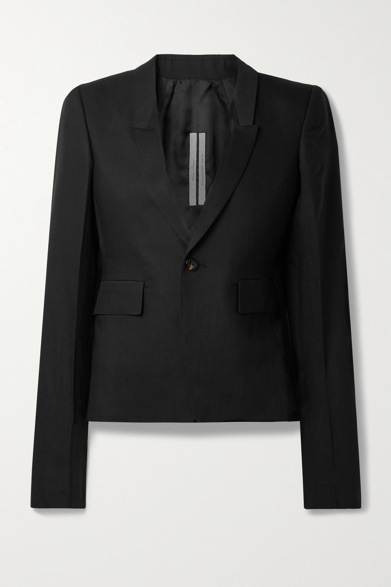 RICK OWENS - 羊毛混纺西装外套 - 黑色 - IT42