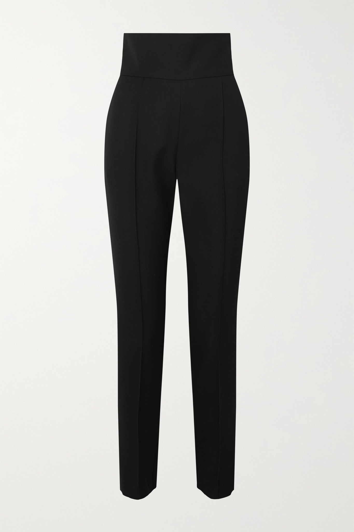 ALEXANDRE VAUTHIER - Wool-blend Gabardine Slim-leg Pants - Black - FR40