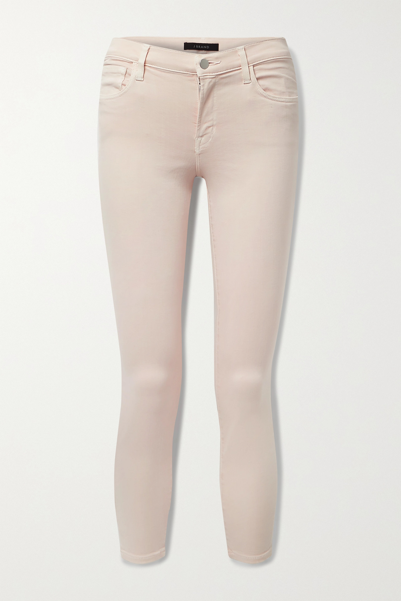 J BRAND - 835 Cropped Mid-rise Skinny Jeans - Pink - 27