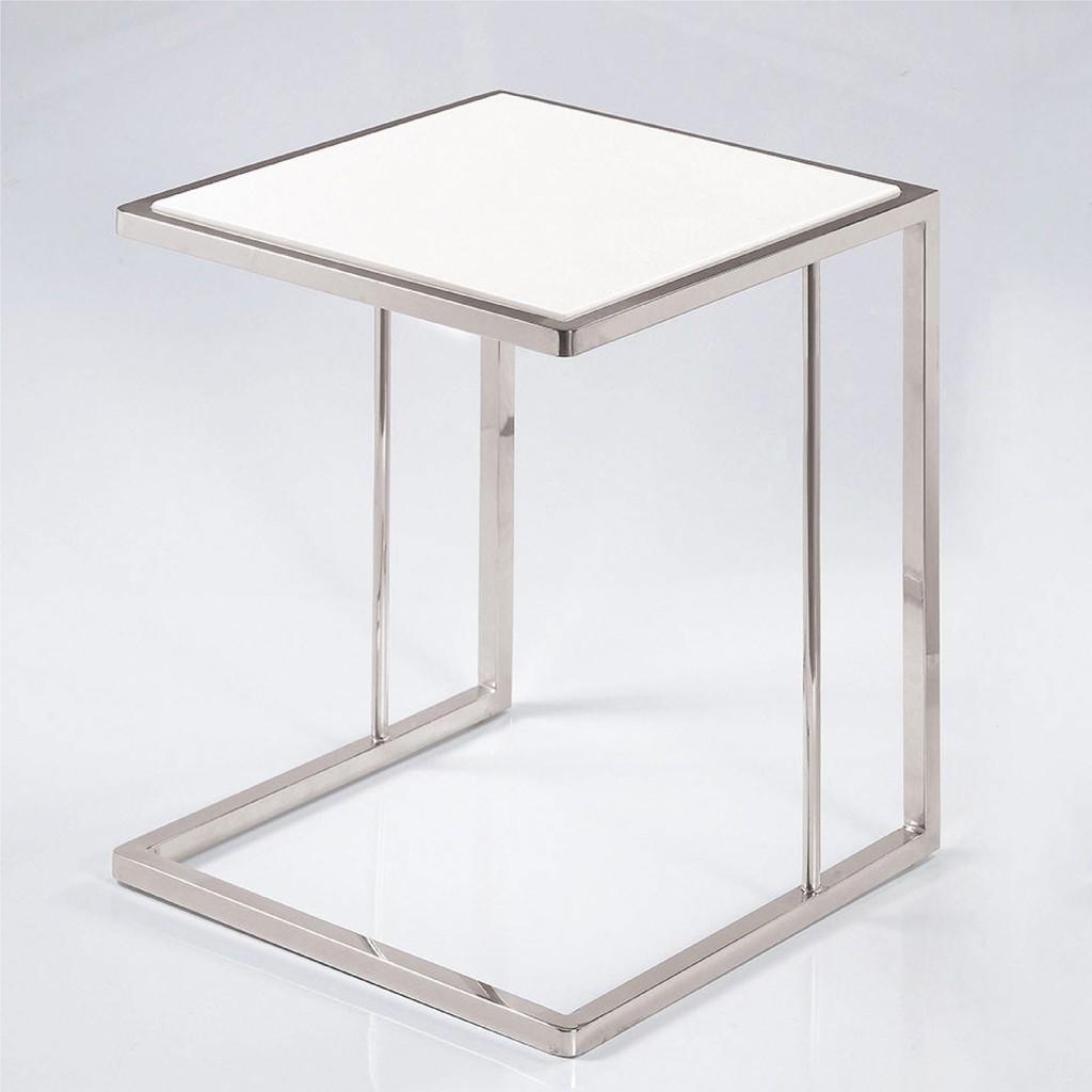 【43cm石面茶几-A338-4】實木原木玻璃 大理石長方桌 大小邊几 圓桌 【金滿屋】