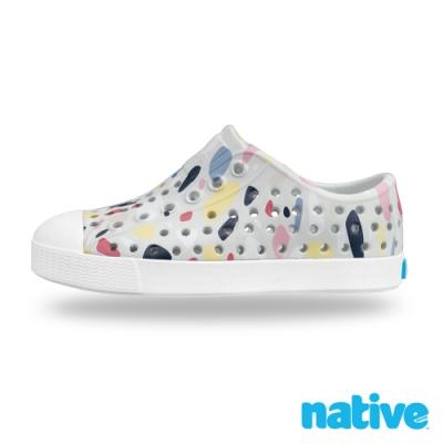 native 小童鞋 JEFFERSON 小奶油頭鞋-水磨石灰