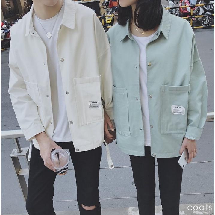 男女chic復古潮牌情侶裝 工裝外套情侶外套 棉質夾克 韓版潮流學生夾克 防風外套 飛行夾克 教練外套