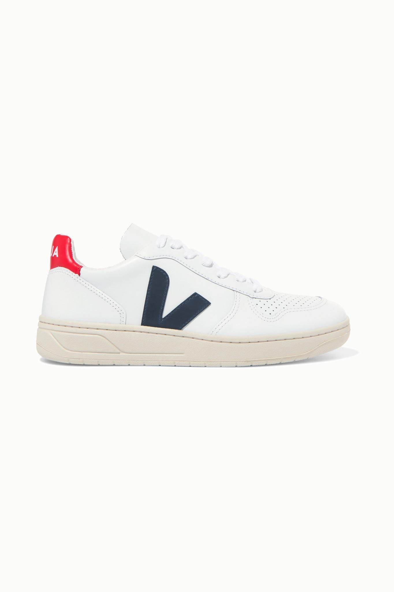 VEJA - + Net Sustain V-10 Leather Sneakers - White - IT41