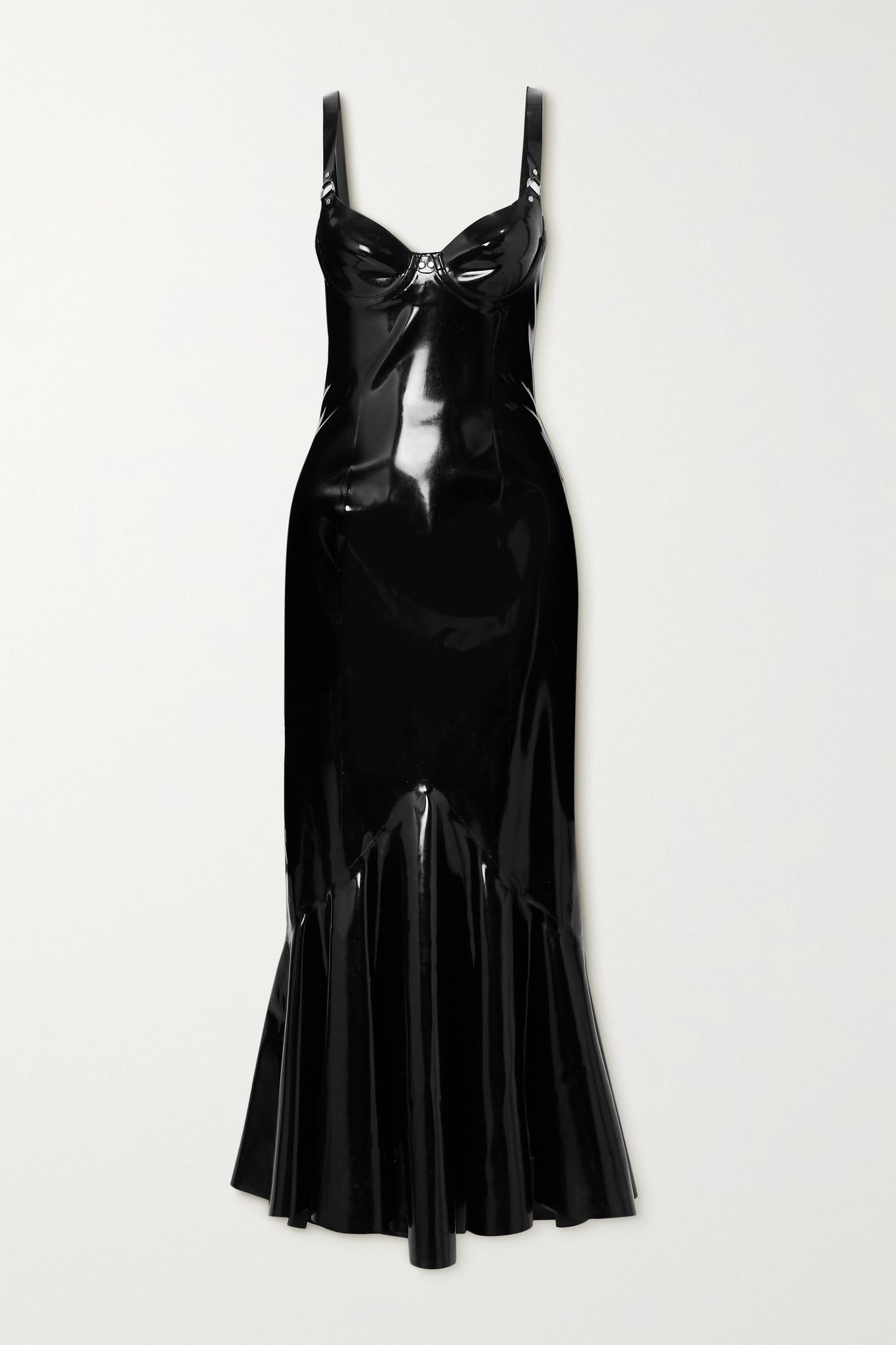 SAINT LAURENT - Latex Midi Dress + Latex Care Cleaning Kit 3 X 30ml Bottles (vividress, Vivishine, V