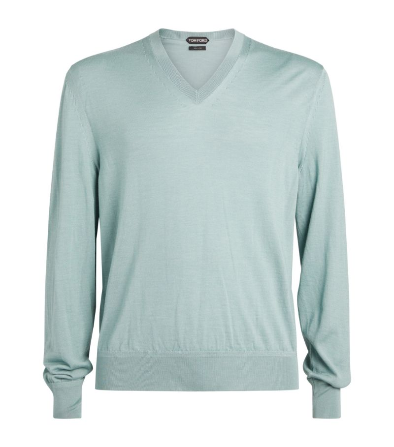 Tom Ford Cashmere-Silk V-Neck Sweater