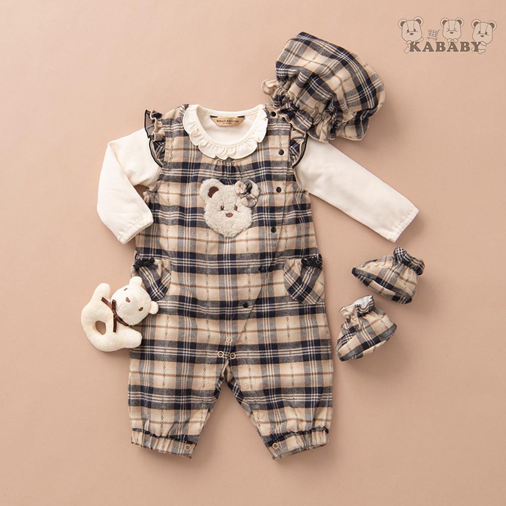 【金安德森】KA秋冬彌月禮盒-可愛女熊背心褲套裝(共二色)