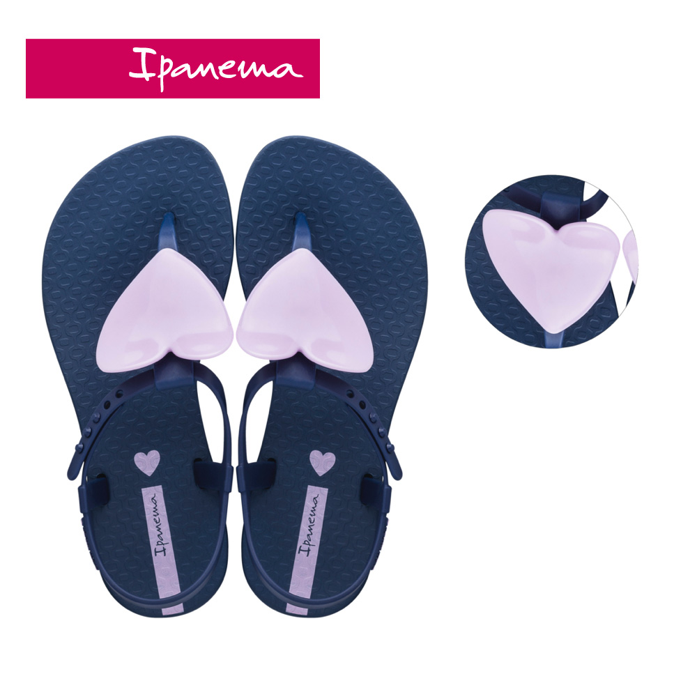 Ipanema [KIDS] CLASS LOVE愛心T字涼鞋-藍(2656322296)