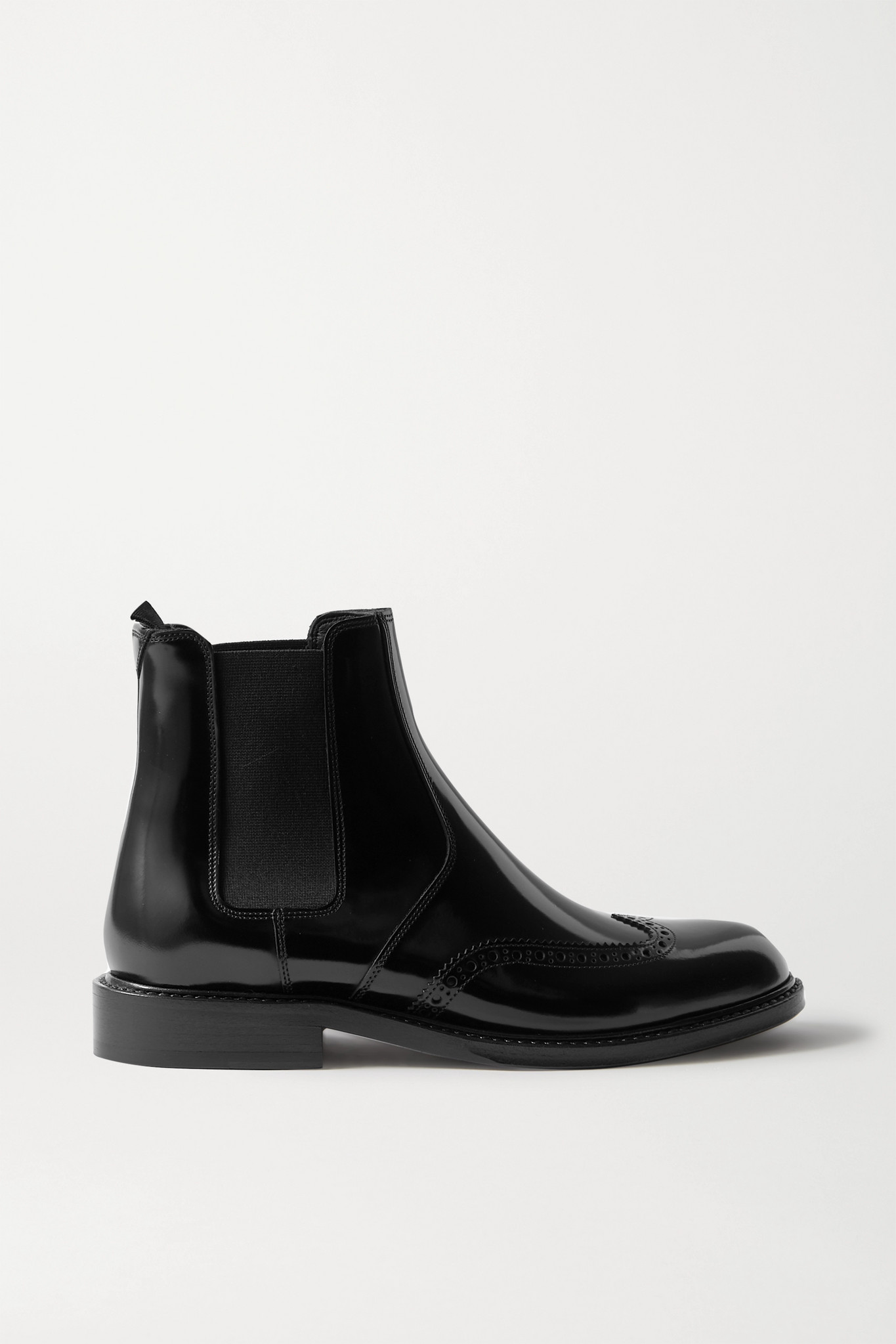 SAINT LAURENT - Ceril 亮面皮革切尔西靴 - 黑色 - IT39.5