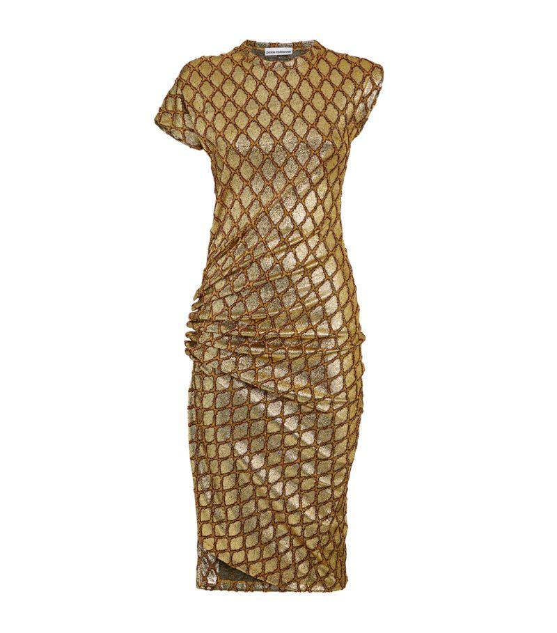 Paco Rabanne Jacquard-Detail Mini Dress