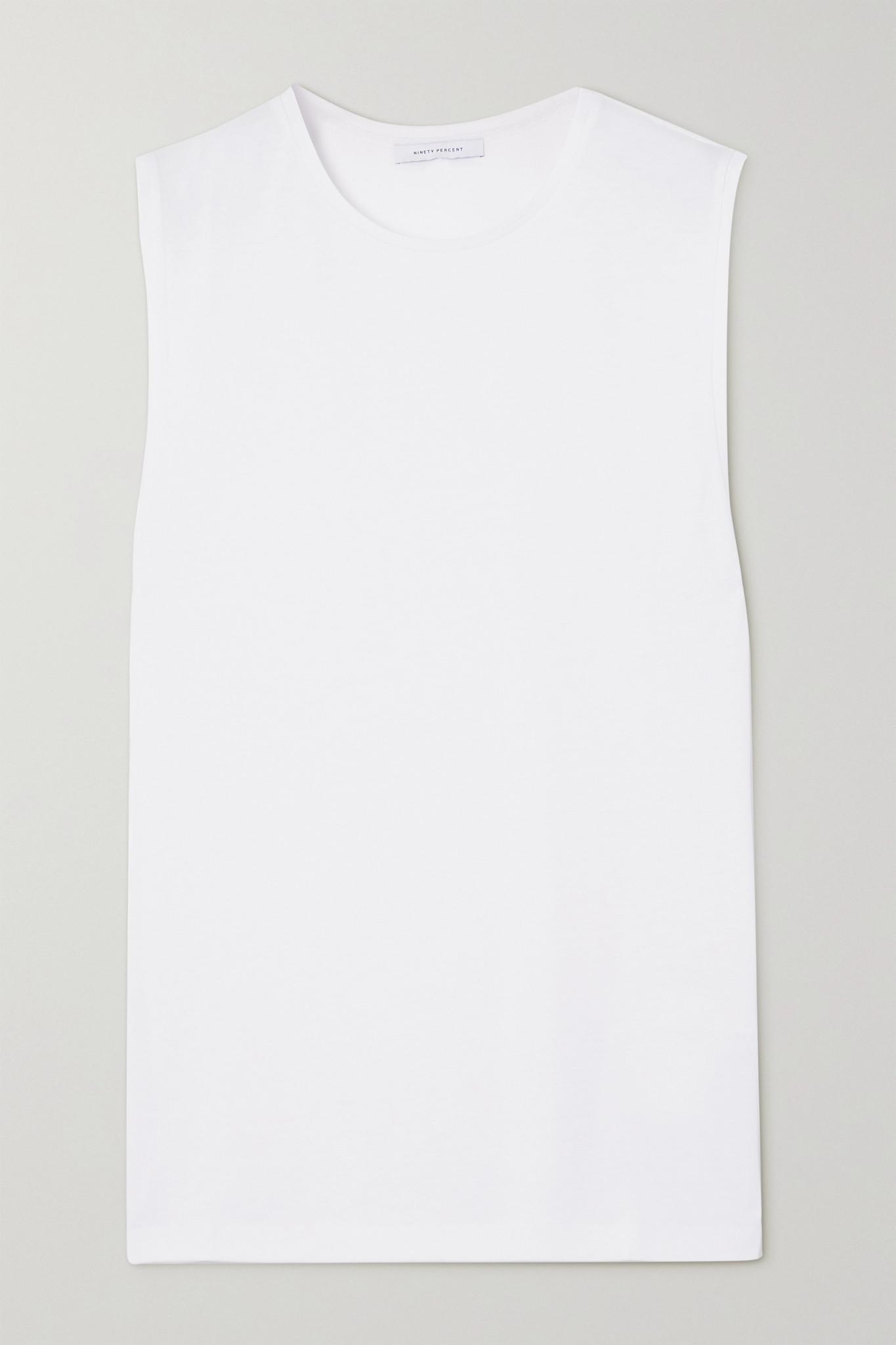 NINETY PERCENT - + Net Sustain Organic Cotton-jersey Tank - White - x large