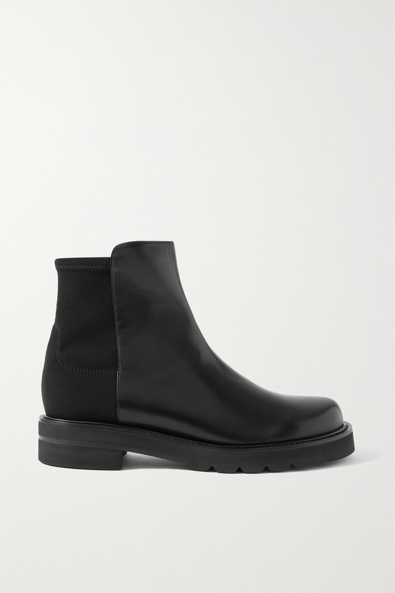 STUART WEITZMAN - 5050 Lift 皮革氯丁橡胶踝靴 - 黑色 - IT40