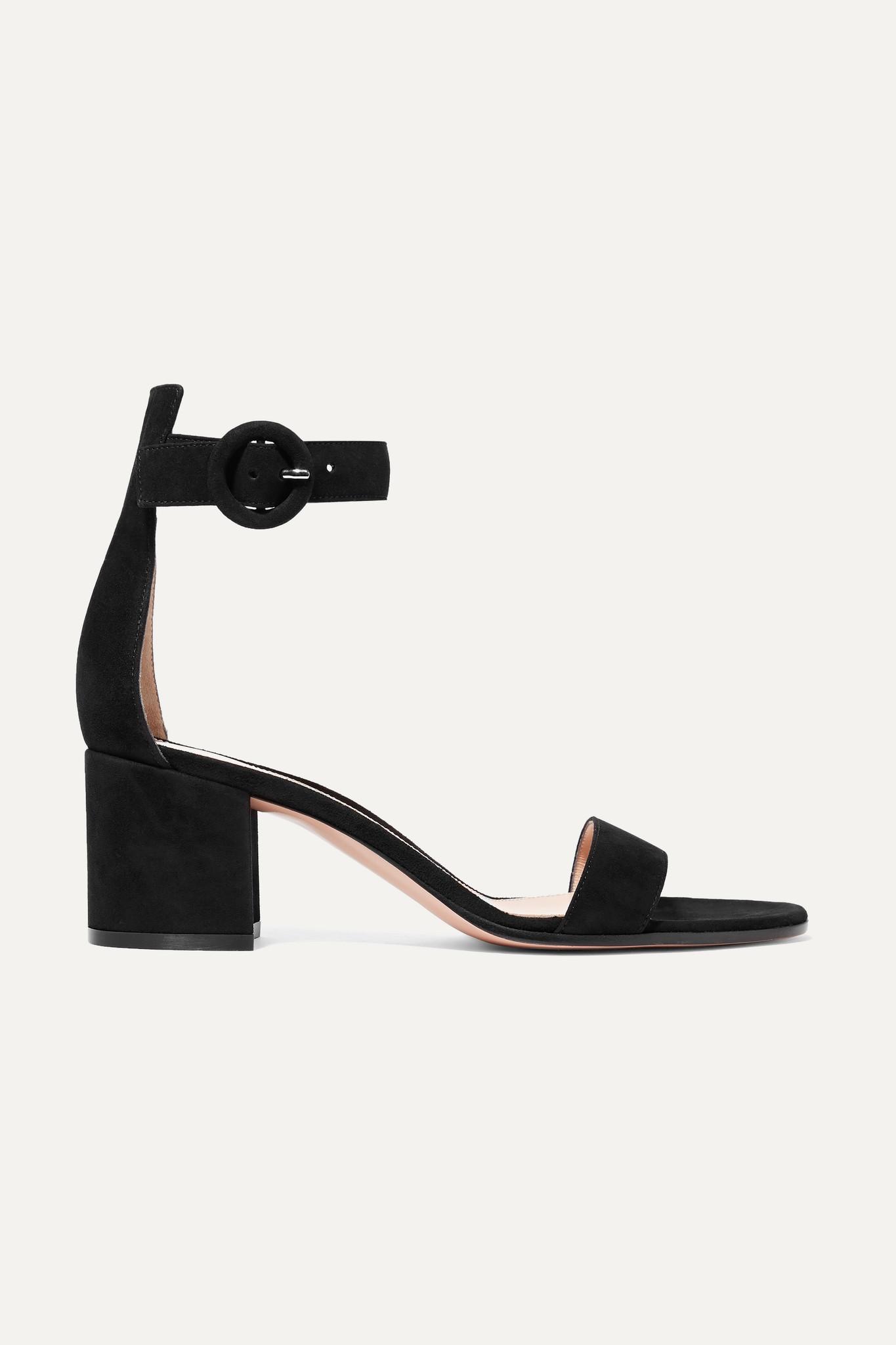 GIANVITO ROSSI - Versilia 60 Suede Sandals - Black - IT35