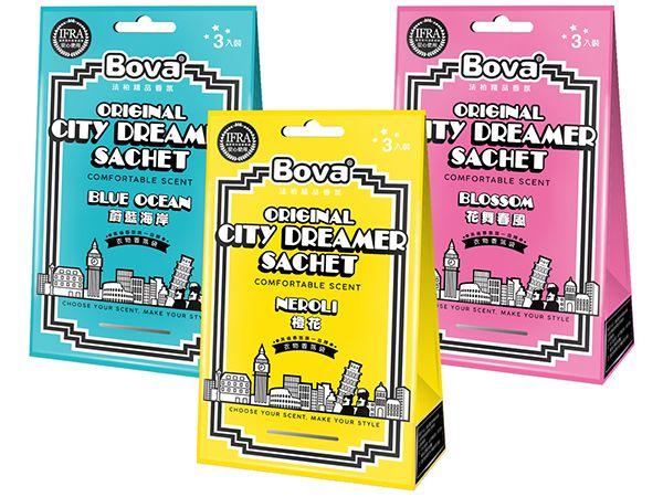 法柏 Bova~城市夢想家衣物香氛包(3入袋) 款式可選【DS000109】