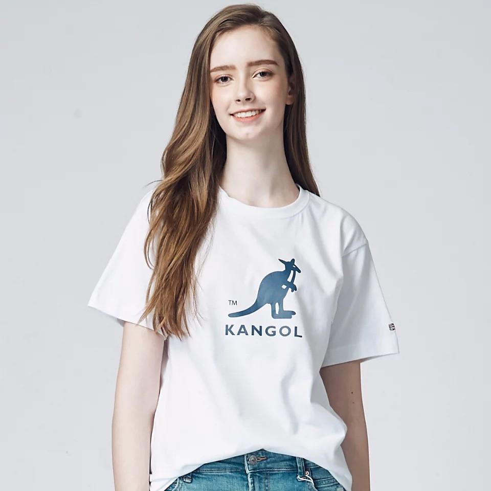 KANGOL-印花大袋鼠短T-白色