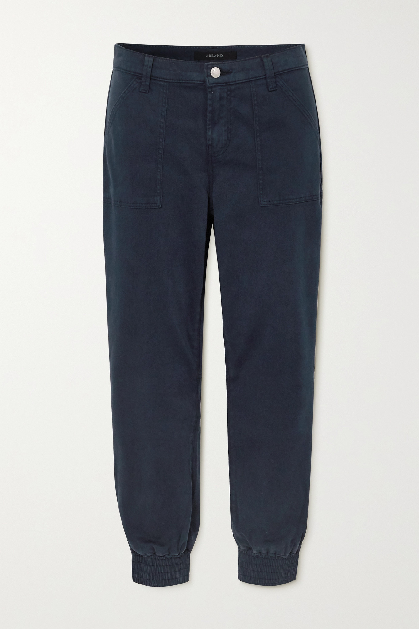 J BRAND - Arkin Cropped Cotton-blend Sateen Track Pants - Blue - 28