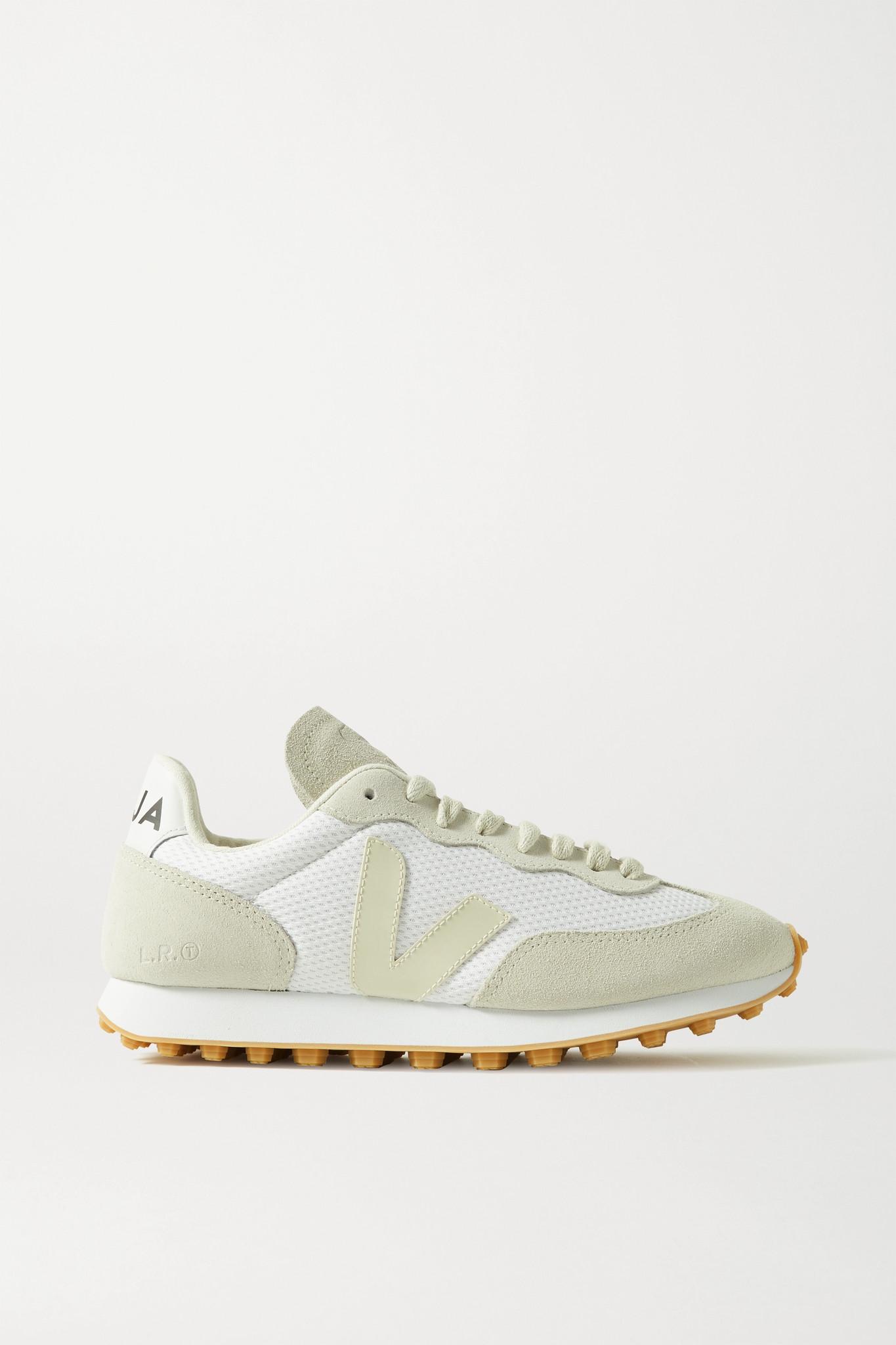 VEJA - 【net Sustain】rio Branco 皮革边饰绒面革网眼运动鞋 - 白色 - IT41