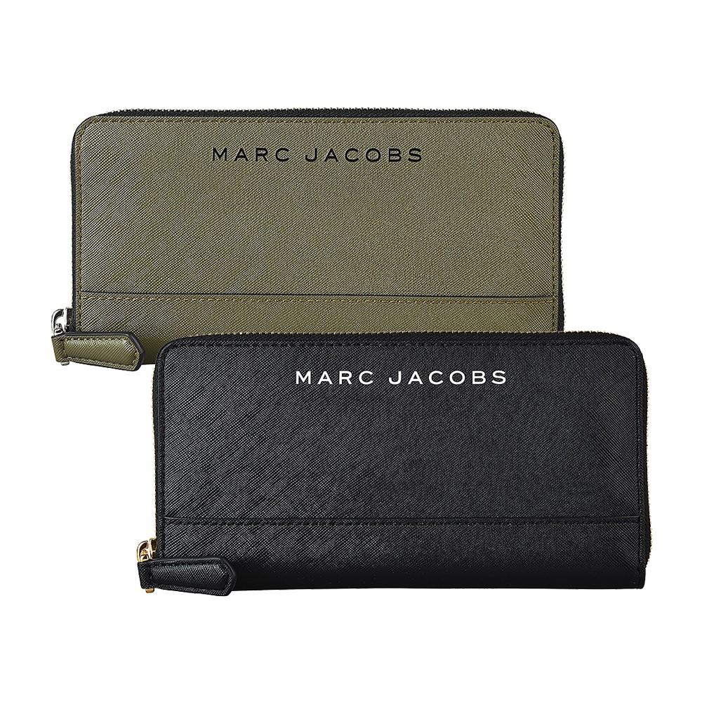 MARC JACOBS SAFFIANO 12卡精緻PVC皮革拉鍊長夾 (兩色)