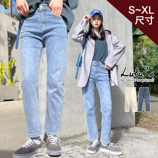 LULUS【A04200282】Y微磨毛牛仔長褲S-XL-2色0225